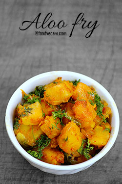 Aloo fry-Potato fry for masala dosa stuffing
