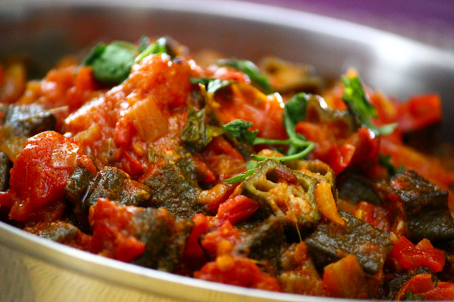 Okra-tomato-curry