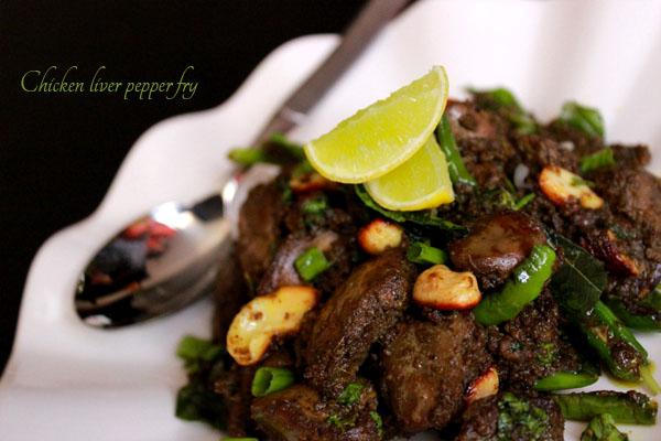 Chicken liver pepper fry