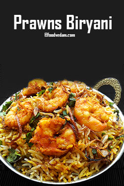 Prawns Biryani Hyderabadi style recipe