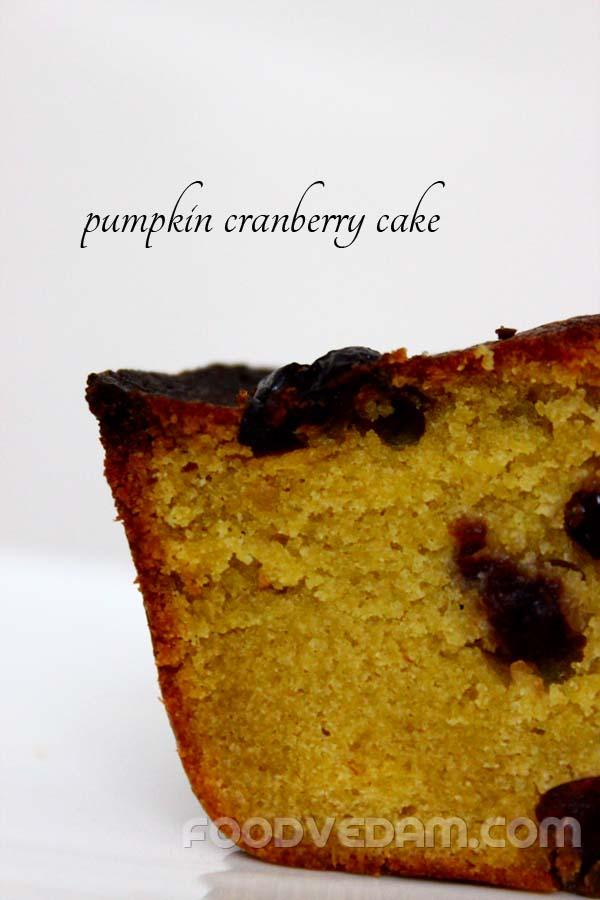 Pumpkin cranberry cake