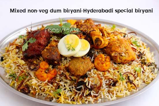 Mixed non-veg biryani