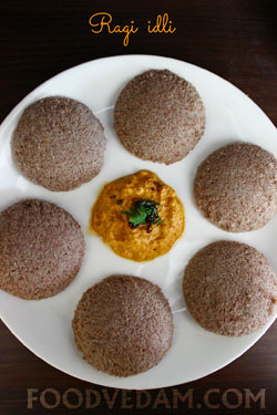 Ragi idli-Finger millets Idli breakfast recipe