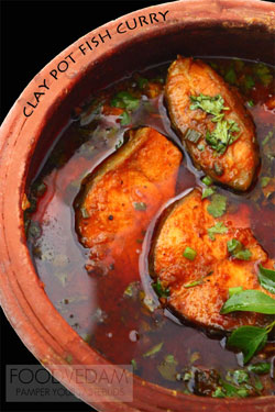 Clay pot Fish curry with coconut milk