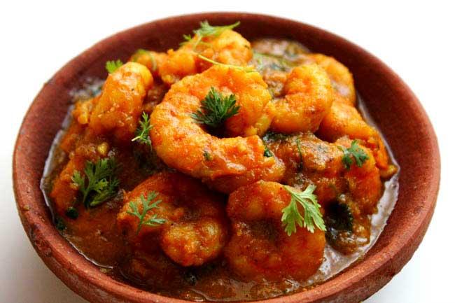 prawns curry with coconut milk