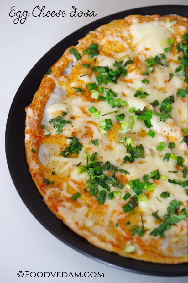 Egg-cheese-dosa