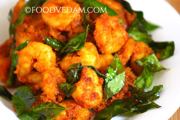 prawns fry with curry leaves