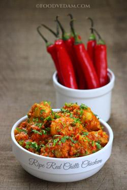 Ripe Red chilli chicken khurma