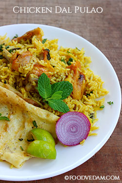chicken dal pulao