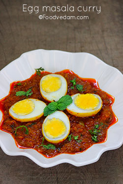 Egg masala curry-how to cook anda masala curry