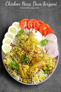 Chicken Hara Dum Biryani