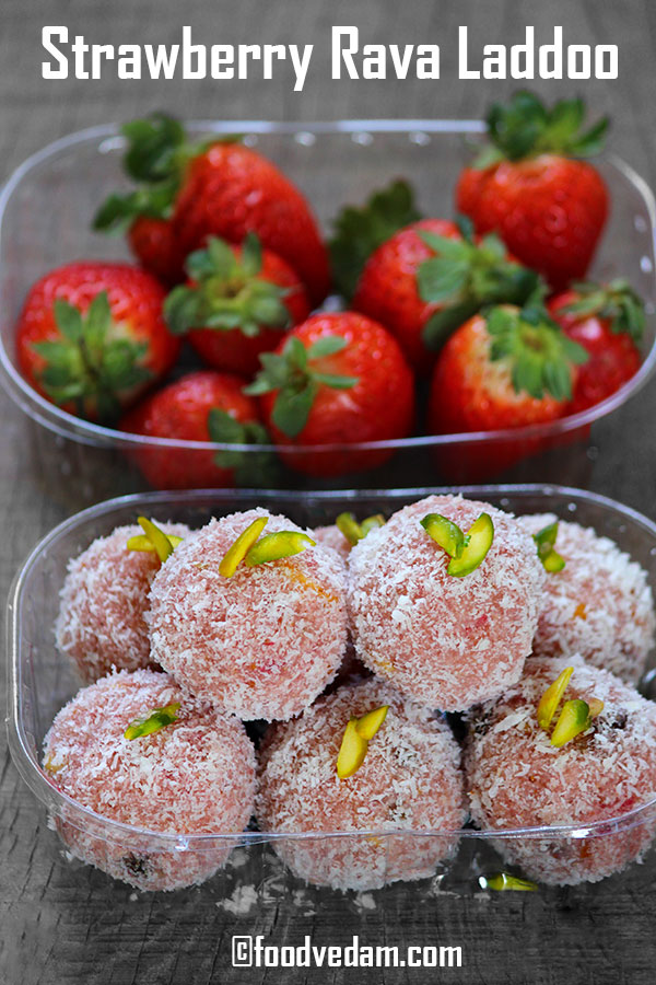 Strawberry Rava laddoo