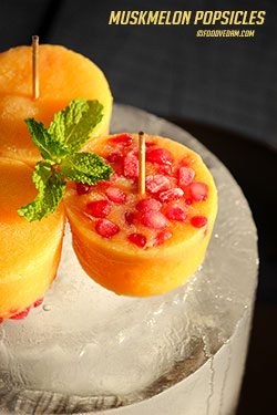 muskmelon popsicles