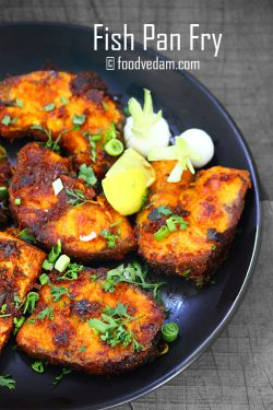 Fish Pan Fry-Spicy Andhra style pan fried fish recipe