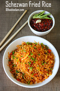 Schezwan Fried Rice Recipe-how to make schezwan rice?