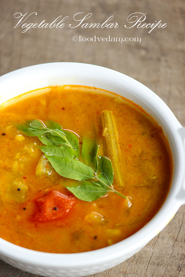 mixed vegetable sambar recipe