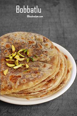 Bobbatlu recipe – how to make puran poli