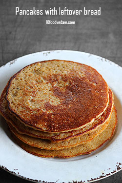 leftover bread pancake recipe
