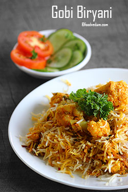 Gobi Biryani Recipe-how to make Cauliflower Dum Biryani