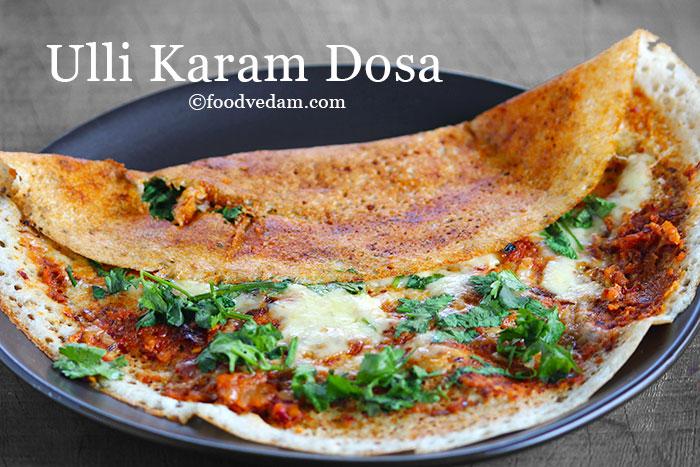Ulli Karam Dosa Recipe