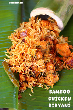 Bamboo Chicken Biryani Recipe