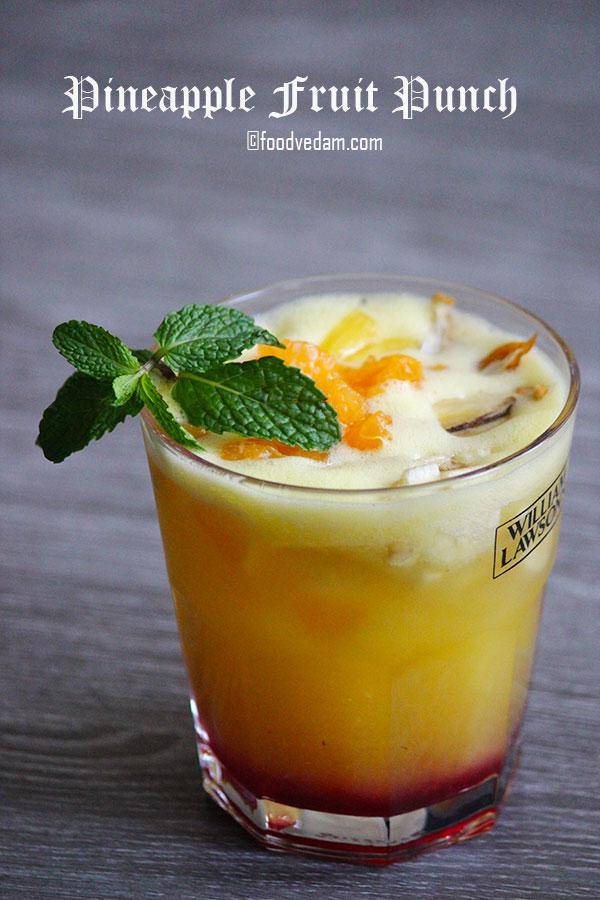 Pineapple Fruit Punch Rcipe