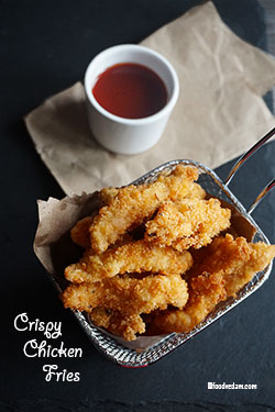 Crispy Chicken Fries Recipe-Crunchy Chicken Fingers