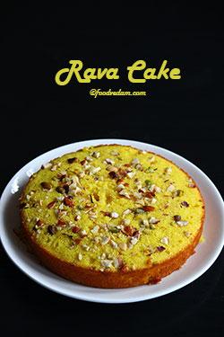 Rava Cake Recipe-Semolina/Suji Cake Recipe in Pressure Cooker