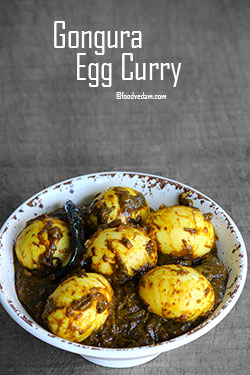 Gongura Egg Curry Recipe-kenaf Leaves Boiled Egg Curry